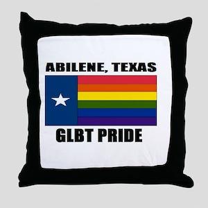 Abilene, Texas- GLBT Pride Throw Pillow