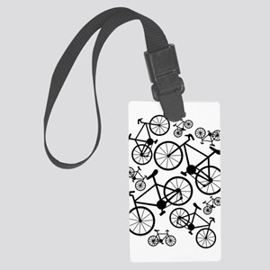 Bicycles Big and Small Large Luggage Tag