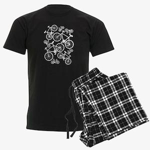 Bicycles Big and Small Men's Dark Pajamas