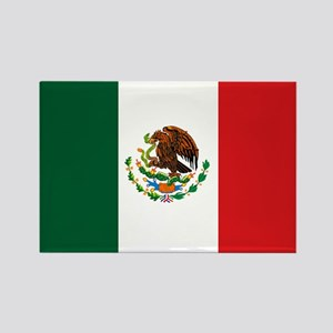 """Mexico Flag"" Rectangle Magnet"