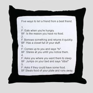 five ways to tell Throw Pillow
