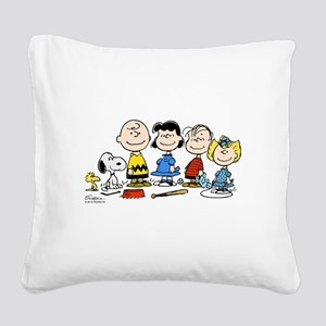 Peanuts Gang Square Canvas Pillow