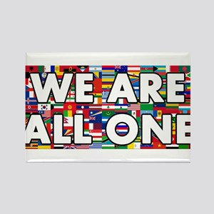 We Are All One 001 Rectangle Magnet