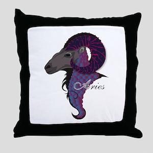 Starlight Aries Throw Pillow