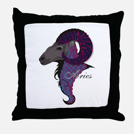 Starlight Aries Throw Pillow