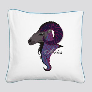 Starlight Aries Square Canvas Pillow
