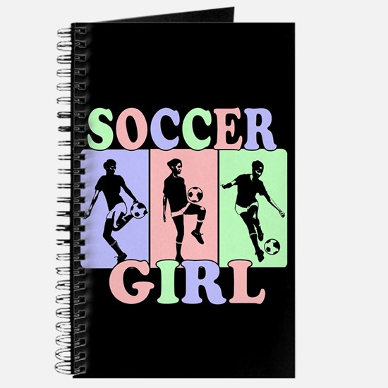 Cute Girls Soccer design Journal