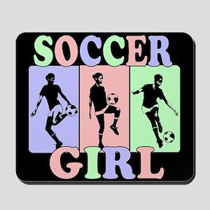 Cute Girls Soccer design Mousepad