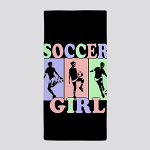 Cute Girls Soccer design Beach Towel