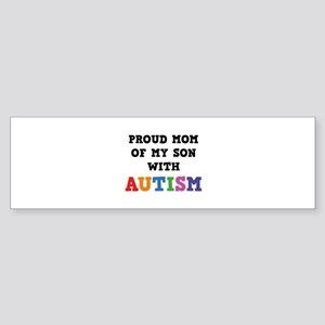 Proud Mom Of My Son With Autism Sticker (Bumper)