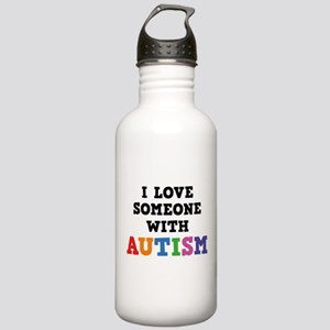I Love Someone With Autism Stainless Water Bottle