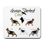 German Shepherd Colors Mousepad