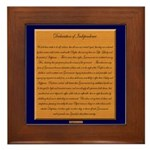 Declaration of Independence Framed Tile