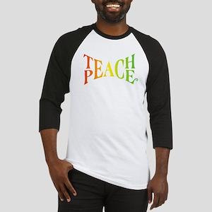 Teache Peace, Autism Awareness Baseball Jersey