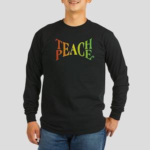 Teache Peace, Autism Awareness Long Sleeve T-Shirt