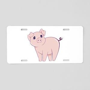 Cute little piggy Aluminum License Plate