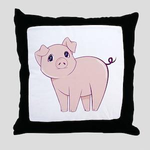 Cute little piggy Throw Pillow