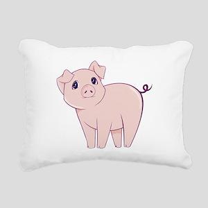 Cute little piggy Rectangular Canvas Pillow