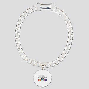 Proud Dad Of My Daughter With Autism Charm Bracele