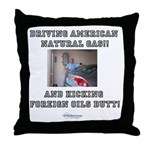 American natural gas Throw Pillow