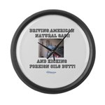 American natural gas Large Wall Clock
