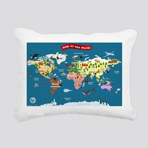 World Map For Kids - Lets Explore Rectangular Canv
