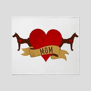 Basenji Mom Throw Blanket
