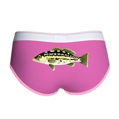 Calico Kelp Bass fish Women's Boy Brief