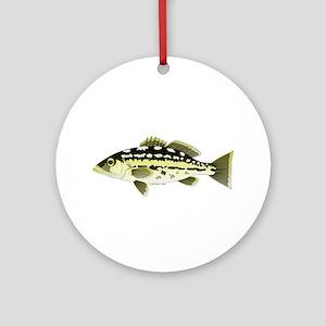 Calico Kelp Bass fish Ornament (Round)