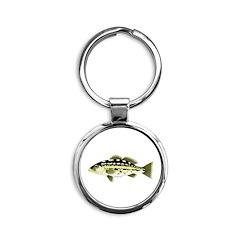 Calico Kelp Bass fish Keychains