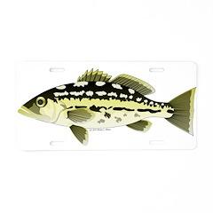 Calico Kelp Bass fish Aluminum License Plate