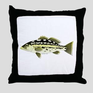 Calico Kelp Bass fish Throw Pillow