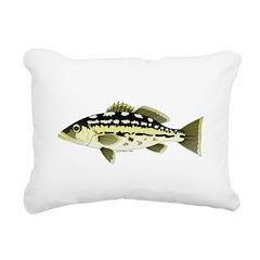 Calico Kelp Bass fish Rectangular Canvas Pillow