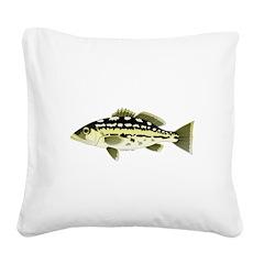 Calico Kelp Bass fish Square Canvas Pillow