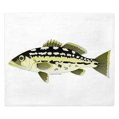 Calico Kelp Bass fish King Duvet