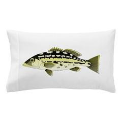 Calico Kelp Bass fish Pillow Case