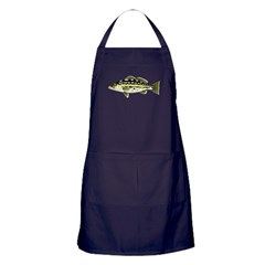 Calico Kelp Bass fish Apron (dark)