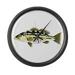 Calico Kelp Bass fish Large Wall Clock