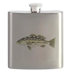 Calico Kelp Bass fish Flask