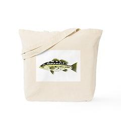 Calico Kelp Bass fish Tote Bag