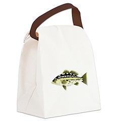 Calico Kelp Bass fish Canvas Lunch Bag