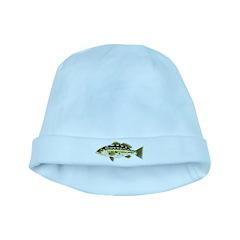 Calico Kelp Bass fish baby hat