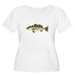 Calico Kelp Bass fish Plus Size T-Shirt