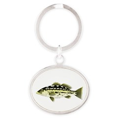 Calico Kelp Bass fish Keychains
