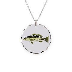Calico Kelp Bass fish Necklace