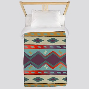 Southwest Indian Blanket Design Twin Duvet