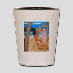 BEACH CATFIGHT Shot Glass