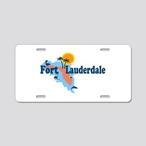 Fort Lauderdale - Map Design. Aluminum License Pla