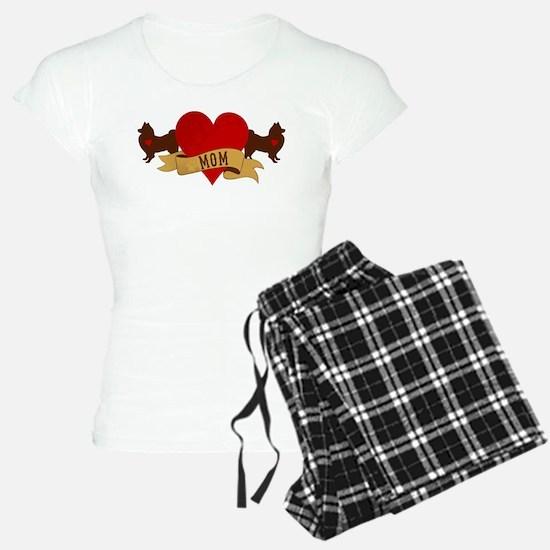 American Eskimo Mom Pajamas