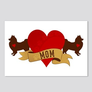American Eskimo Mom Postcards (Package of 8)